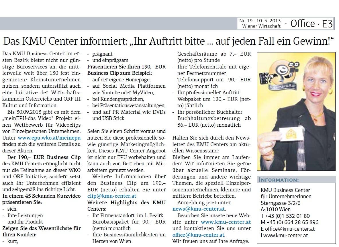 Wiener Wirtschaft 10.05.2013