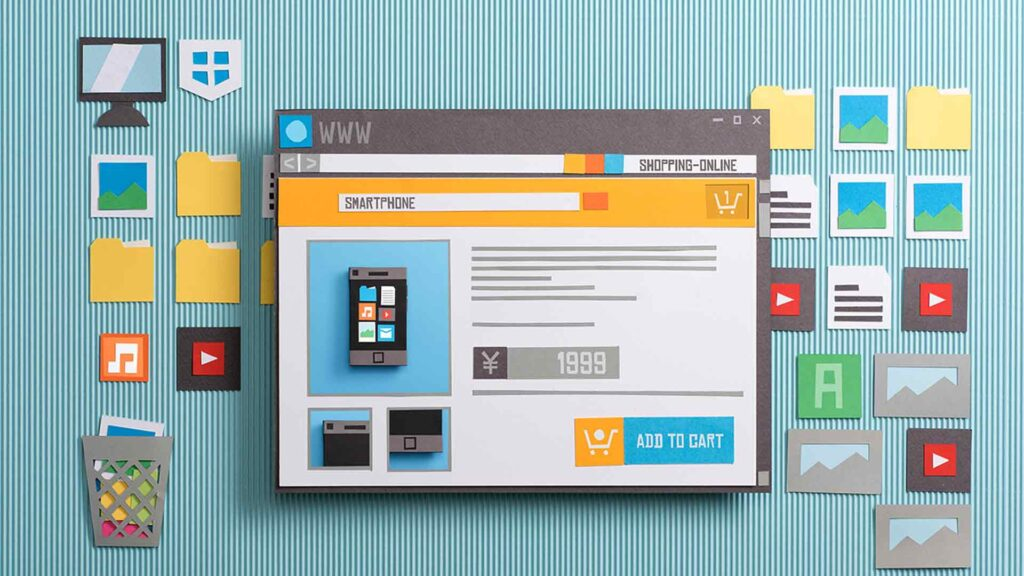 Desktop einer rechtskonformen Website