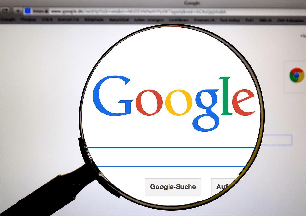 Vergrößerungslupe auf Google