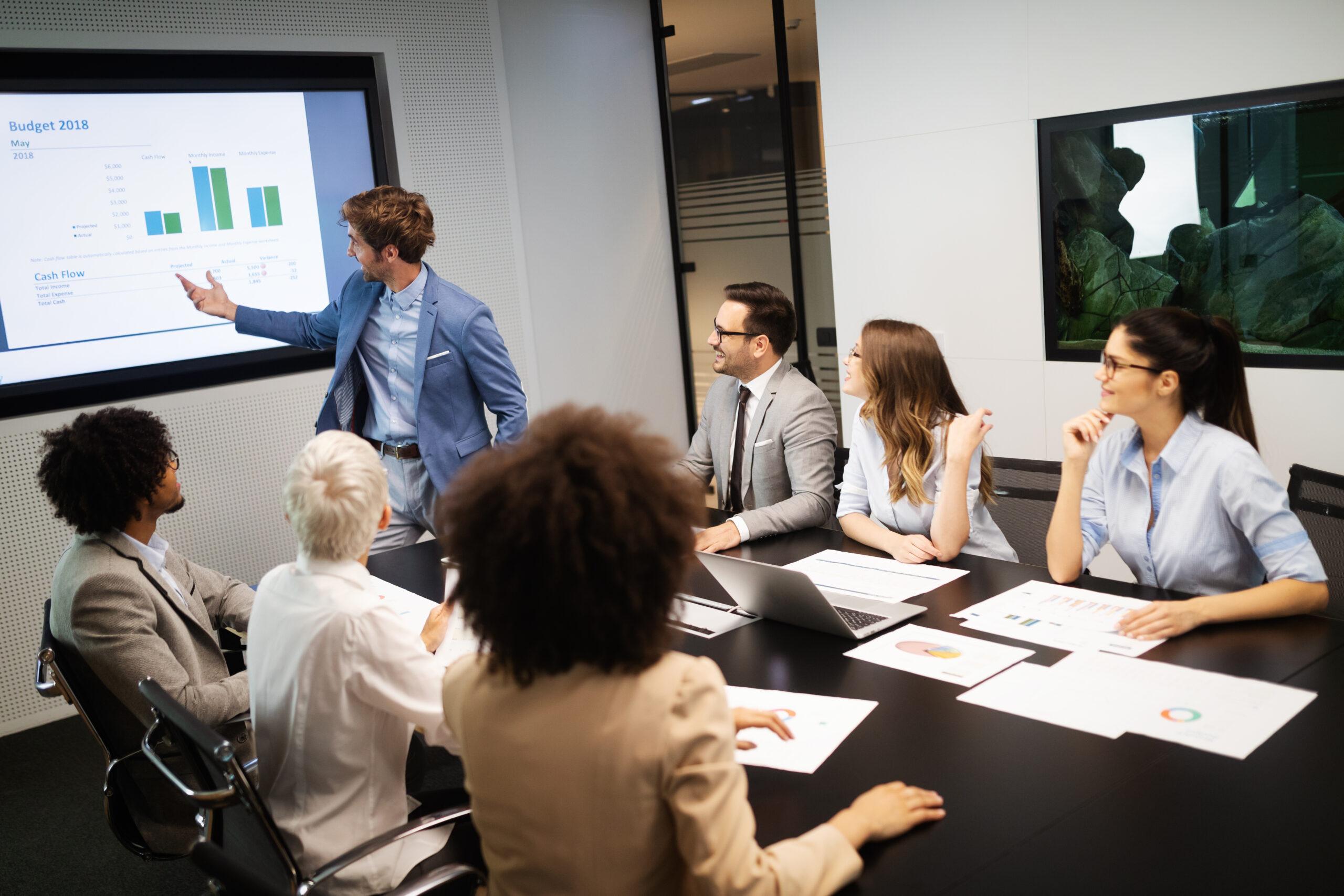 Unternehmensführung Team Meeting