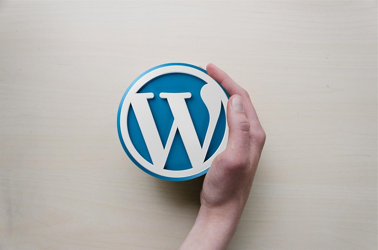 Wordpress Logo in einer Hand